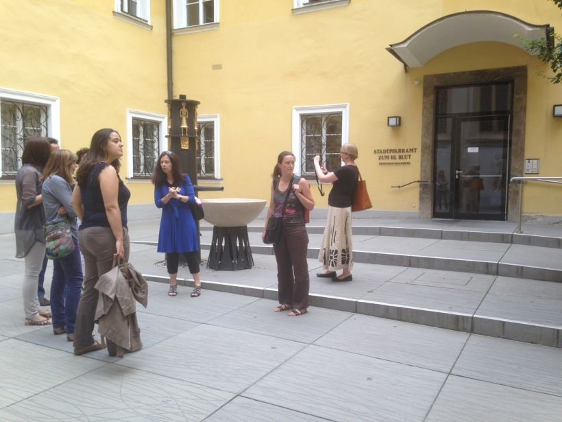 A guided tour for T-Guide partners in Graz, Austria. July, 2014