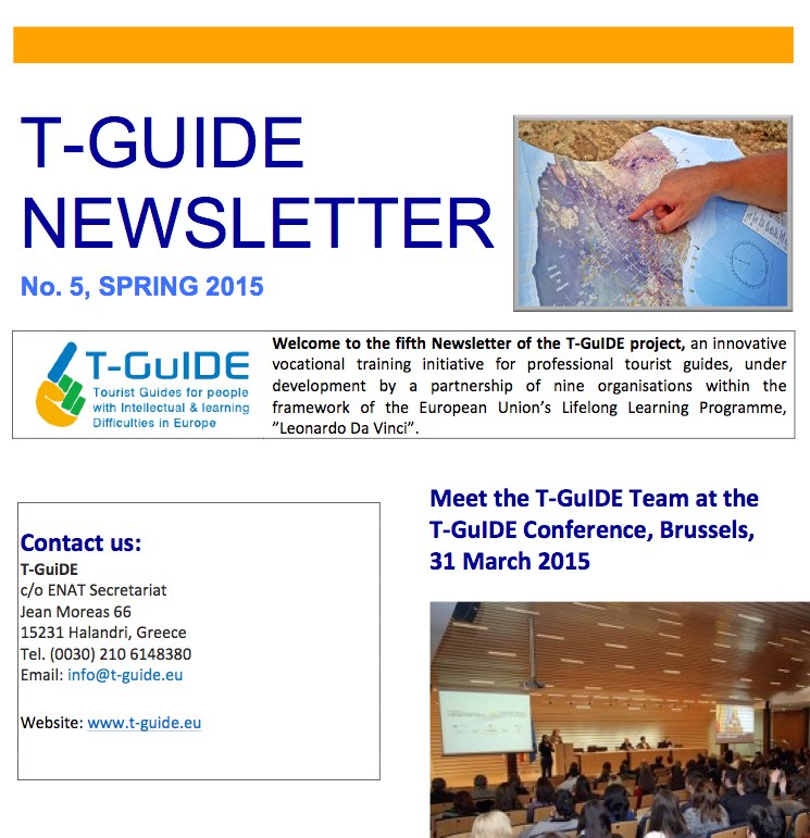 Image of front page T-Guide Newsletter no 5